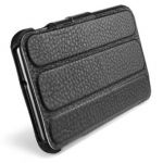 Чехол SGP Leather Case Leinwand Series Black for Samsung Galaxy Note